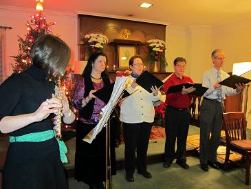 Musical performance during Christmas Special at Vedanta Society of St. Louis