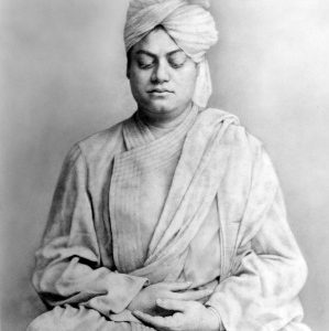 Swami Vivekananda in meditation pose