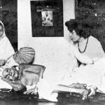 Gopaler Ma with Sister Nivedita and attendant