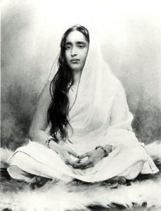 Holy Mother, A painting by Frank Dvorak collected by Swami Abhedananda