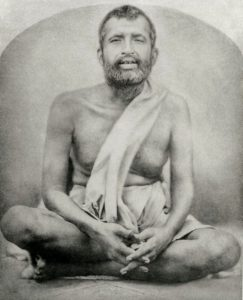 Sri Ramakrishna, Oct 1883, in front of Radhakanta Temple