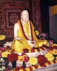 The marble statue of Sri Ramakrishna at Belur Math