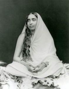 Shrine pose of Holy Mother, Sri Sarada Devi