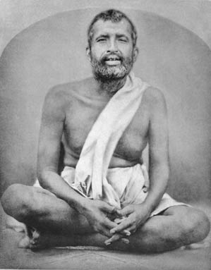 Sri Ramakrishna shrine pose