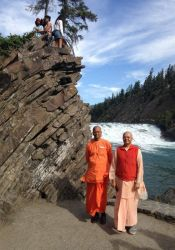 Chetanananda and Kripamayananda, Rocky Mountains, Calgary
