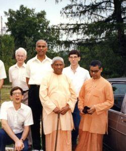 George, Bob, Chetanananda, Neal, Swami Bhuteshananda, Nityamuktananda