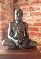 Ramakrishna statue by Swami Tadatmananda in Trabuco, July 4, 2015