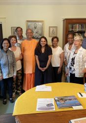 Devotees and Swami gathered for 50th anniversary